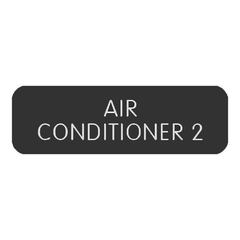 "Blue Sea Large Format Label - ""Air Conditioner 2"" - 8063-0027"
