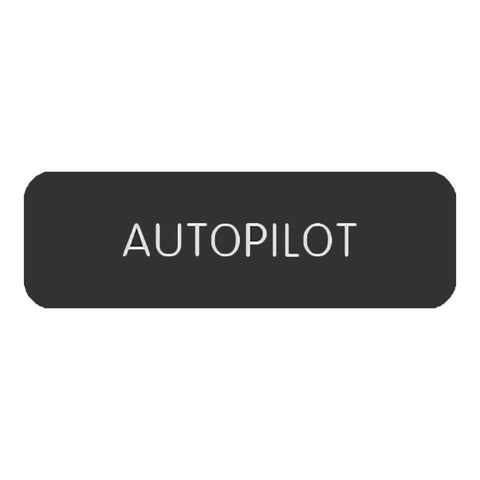 "Blue Sea Large Format Label - ""Autopilot"" - 8063-0043"