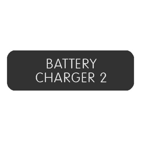 "Blue Sea Large Format Label - ""Battery Charger 2"" - 8063-0051"