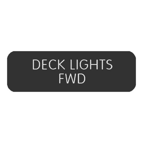 "Blue Sea Large Format Label - ""Deck Lights FWD""  - 8063-0126"