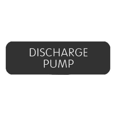 "Blue Sea Large Format Label - ""Discharge Pump""  - 8063-0137"
