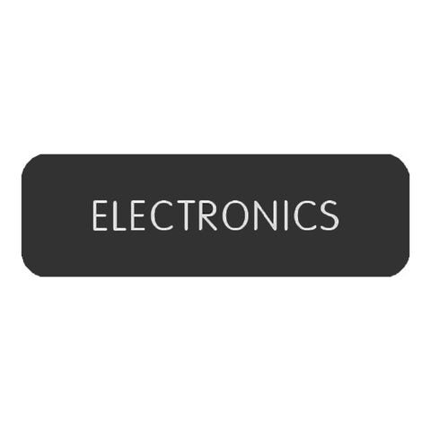 "Blue Sea Large Format Label - ""Electronics""  - 8063-0148"