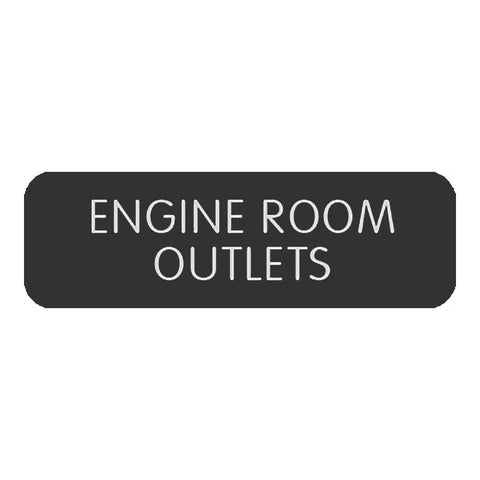 "Blue Sea Large Format Label - ""Engine Room Outlets""  - 8063-0156"
