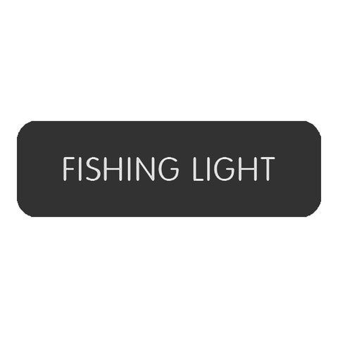 "Blue Sea Large Format Label - ""Fishing Light"" - 8063-0189"
