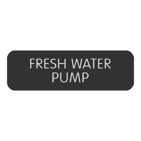 "Blue Sea Large Format Label - ""Fresh Water Pump"" - 8063-0200"