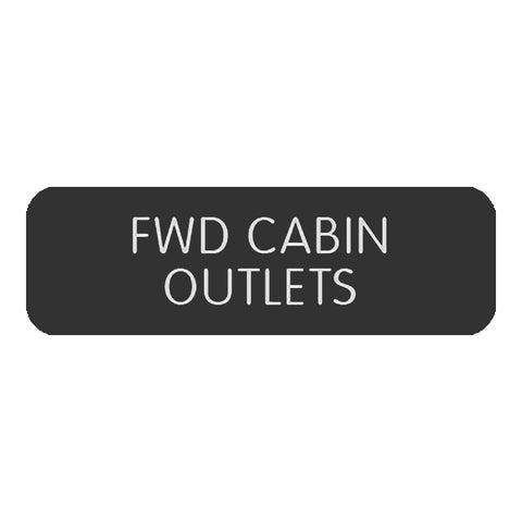 "Blue Sea Large Format Label - ""FWD Cabin Outlets"" - 8063-0218"
