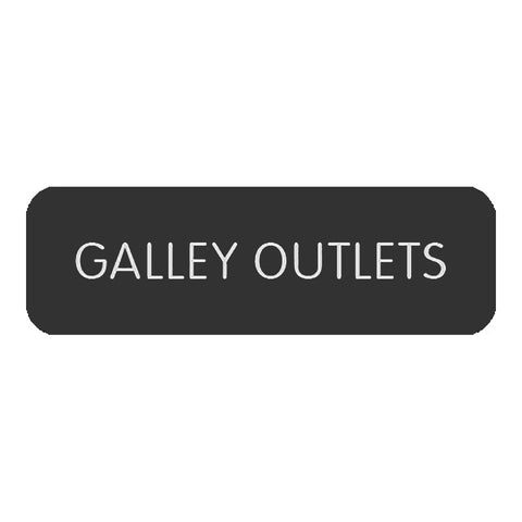 "Blue Sea Large Format Label - ""Galley Outlets"" - 8063-0224"