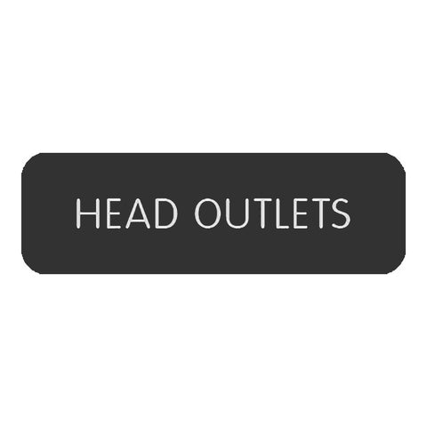 "Blue Sea Large Format Label - ""Head Outlets"" - 8063-0255"