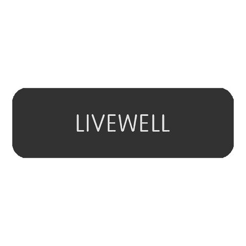 "Blue Sea Large Format Label - ""Livewell"" - 8063-0300"