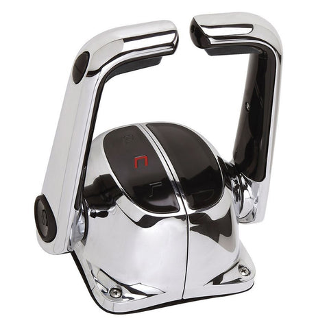 Uflex Twin Lever Top Mount Control w/Neutral Lock & Trim Switch - Chrome - B502CHT/L