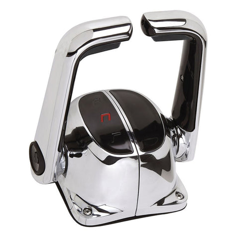 Uflex Twin Lever Top Mount Control w/Neutral Lock - No Trim Switch - Chrome - B5