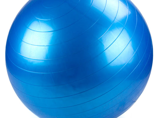 65cm Blue Exercise Ball with Foot Pump
