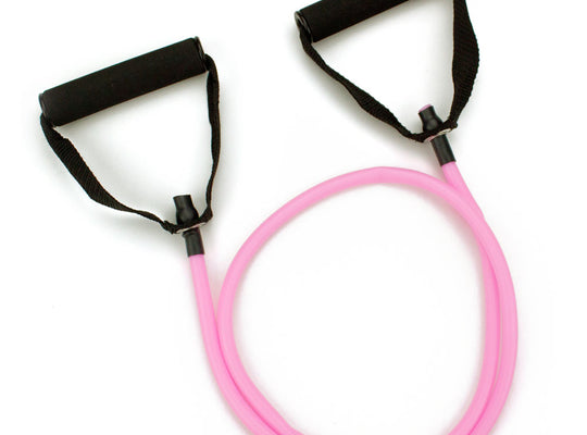 4' Pink Medium Tension (12 lb.) Exercise Resistance Band