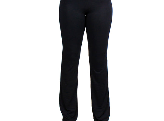 Large Black Relaxed Fit Yoga Pants