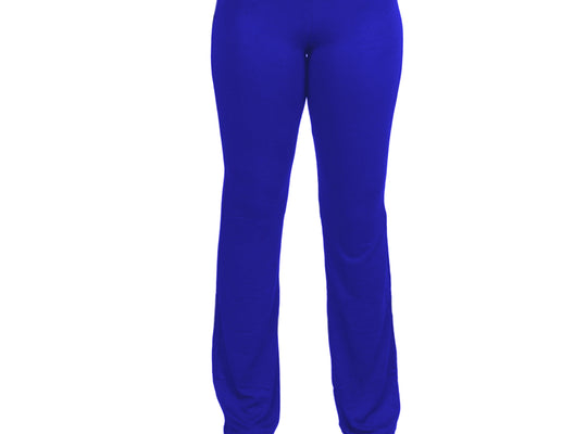 X-Large Blue Relaxed Fit Yoga Pants