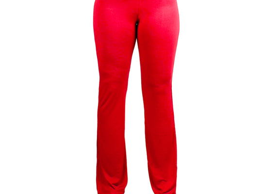 Large Red Relaxed Fit Yoga Pants