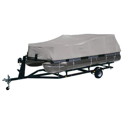 "Dallas Manufacturing Co. Heavy-Duty 300 D Polyester Pontoon Cover - Fits 21' - 24' w/Beam Width to 102"" - BC2104MENB"