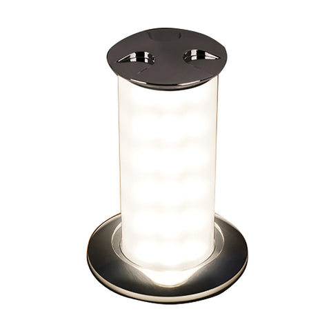 Quick Secret 6W Retractable Lamp w/Automatic Switch IP66 Mirrored Chrome Finish - Warm White LED - FASP1572X12CD00
