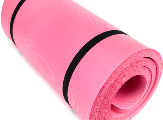 "Ultra Thick 1"" Yoga Cloud, Pink"