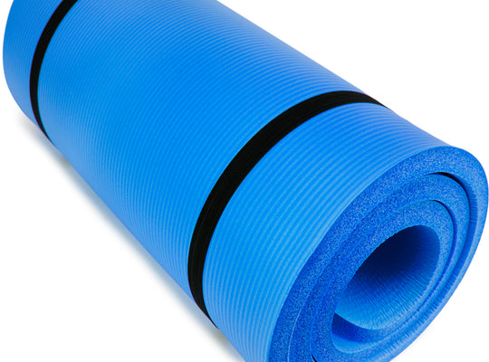 "Ultra Thick 1"" Yoga Cloud, Blue"