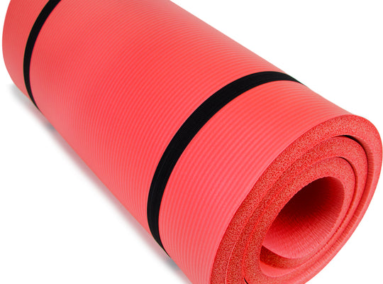 "Ultra Thick 1"" Yoga Cloud, Red"