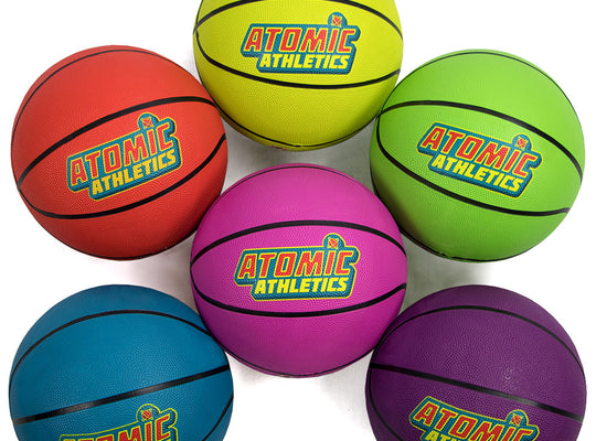 6 Youth Size Neon Basketballs