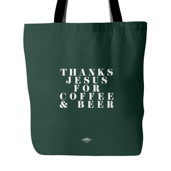 Thanks Jesus Tote Bag- Jumbo