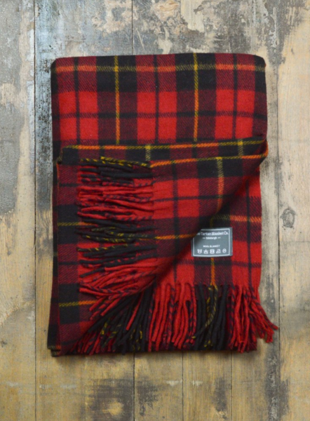 Classic Wool Tartan Knee Blanket in Wallace