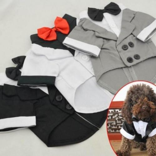 Wedding Tuxedo Western Style Pet Suit - best-pet-store-supplies