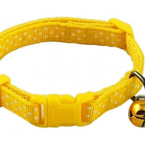 Polka Dot Print Adjustable Pet Collars With Bell - best-pet-store-supplies