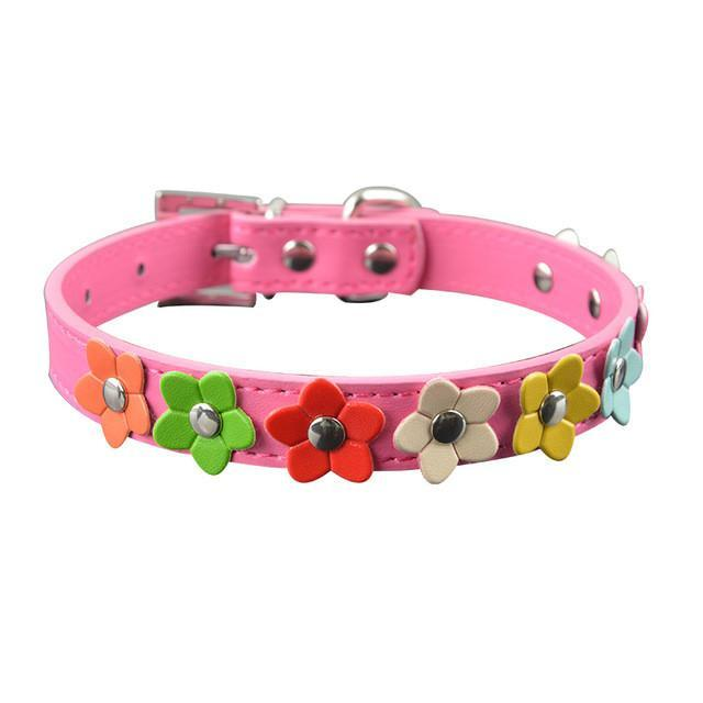 Leather Puppy Pet Dog Collar - best-pet-store-supplies