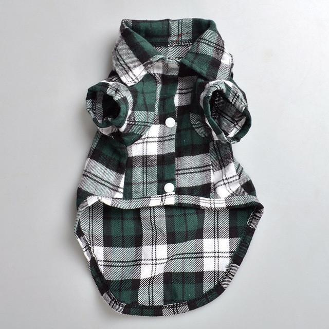 Plaids Grid Shirt Lapel Costume