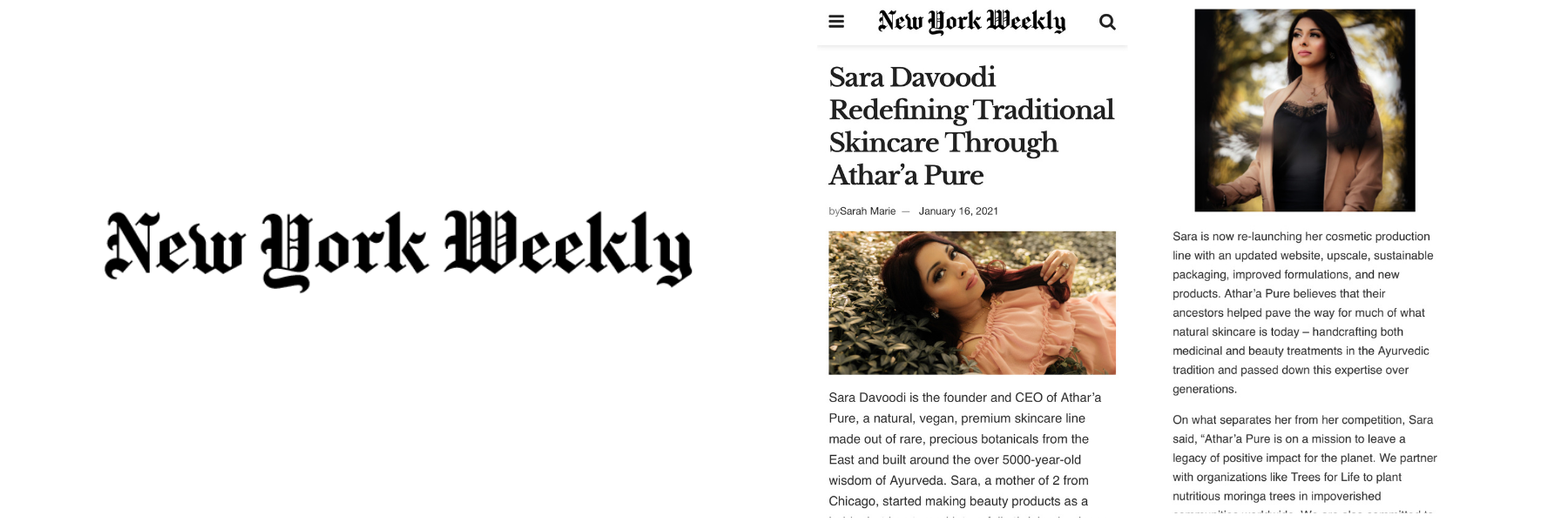 Athar'a Pure New York Weekly