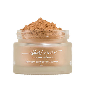 Moroccan Glow Detoxifying Face Mask (Vegan, 100% Natural)