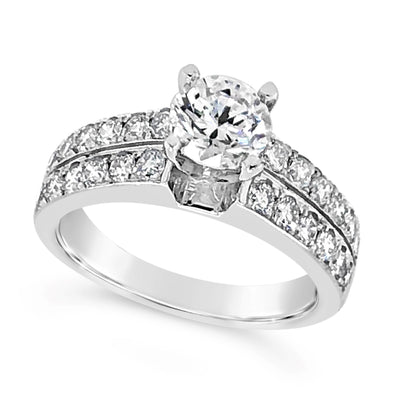 Two Row Channel Set Diamond Engagement Mounting
