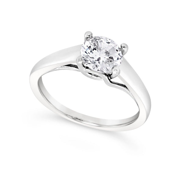 Wide Solitaire Engagement Mounting