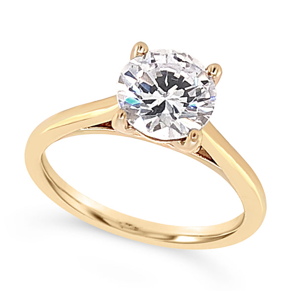 Rose Gold Solitaire Engagement Mounting