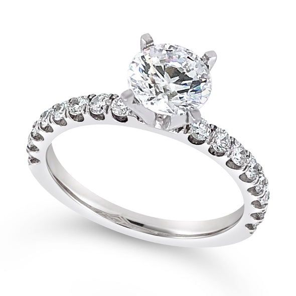 Sixteen Diamond Scalloped Prong Design Engagement Mounting