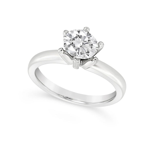 Six Prong Solitaire Engagement Mounting