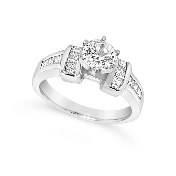 Princess Cut Diamond Engagement Mounting