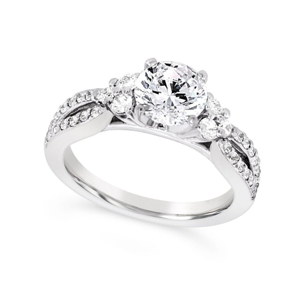 Tapered Design Split Shank Diamond Engagement Mounting