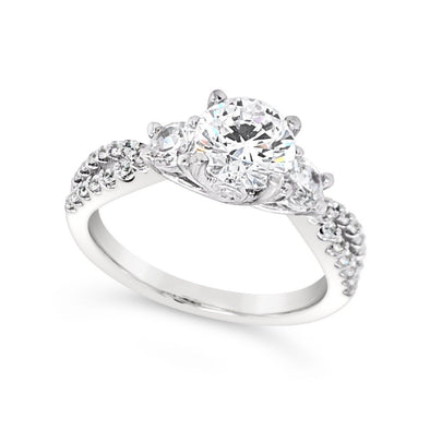 Tapered Diamond Engagement Mounting