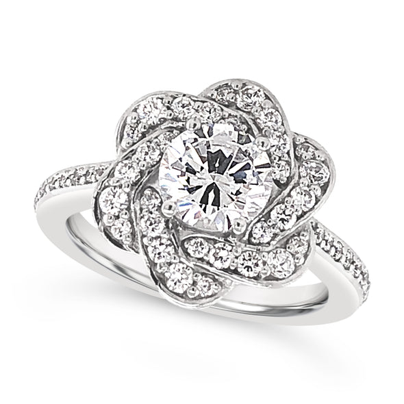 Flower Design Diamond Engagement Mounting