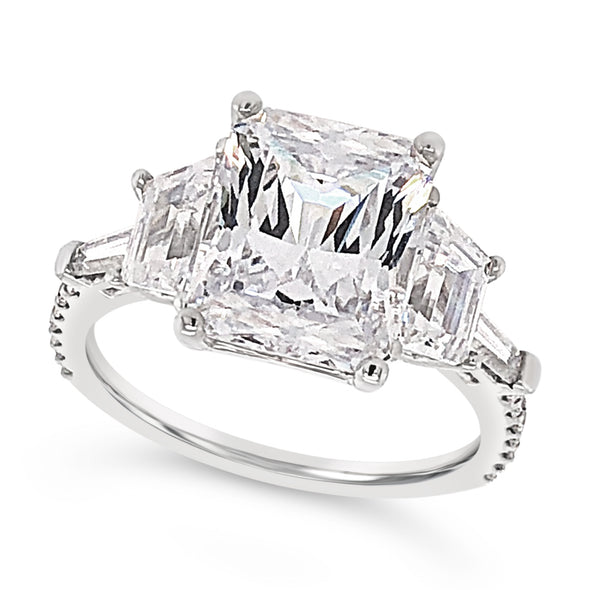 Trapezoid and Tapered Baguette Diamond Engagement Mounting