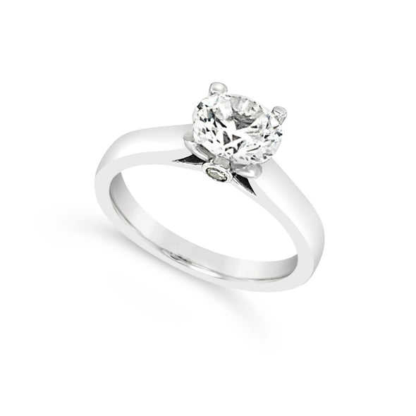 Cathedral Style Solitaire Engagement Mounting