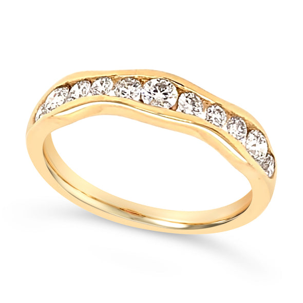 Tapered Style Diamond Band
