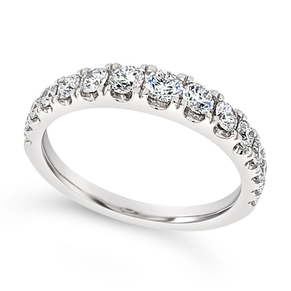 Graduating Size Diamond Wedding Band - .75 carat t.w.