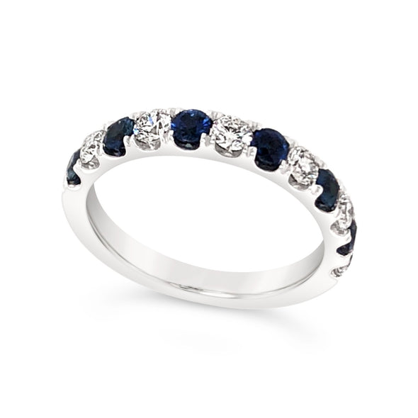 Alternating Sapphire and Diamond Ring