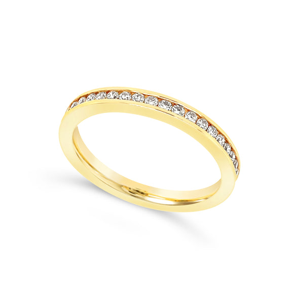 Yellow Gold Channel Set Diamond Eternity Wedding Band - .50 carat t.w.