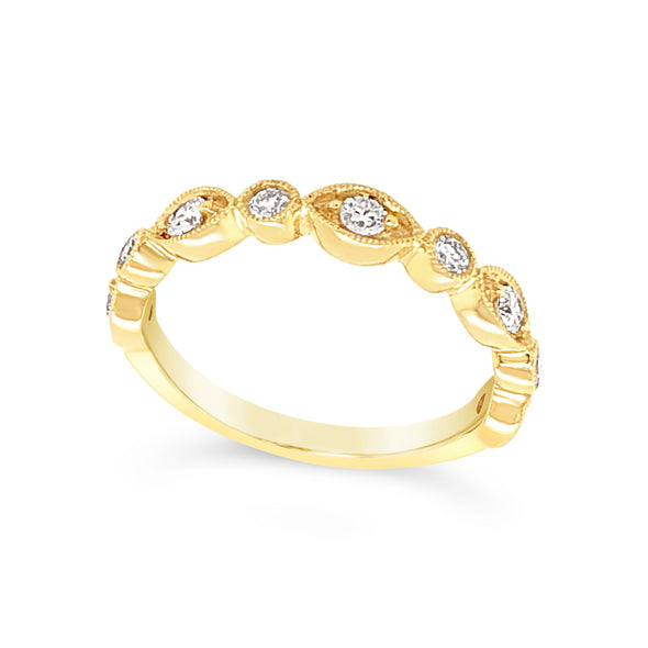 Tapered Design Diamond Stackable Band